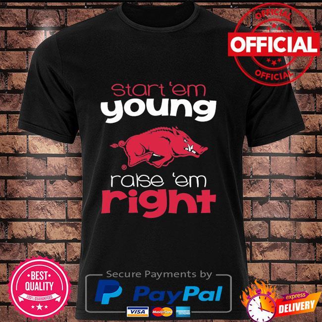 ArKansas Razorbacks Toddler start em young shirt