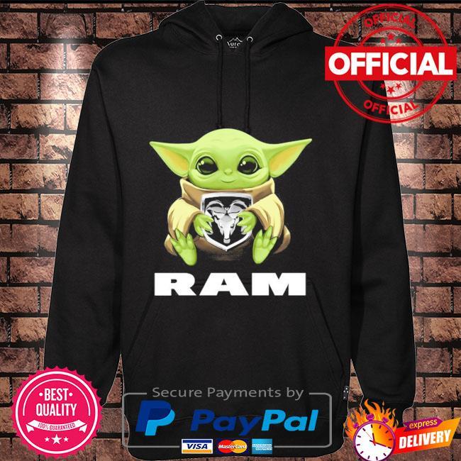 Baby Yoda hug Ram Hoodie black