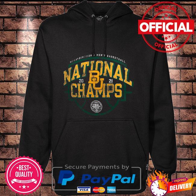 Baylor bears 2021 ncaa men's basketball national champions charge tri-blend Hoodie black