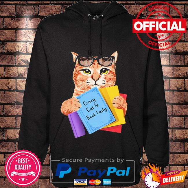 Crazy cat and book lady Hoodie black
