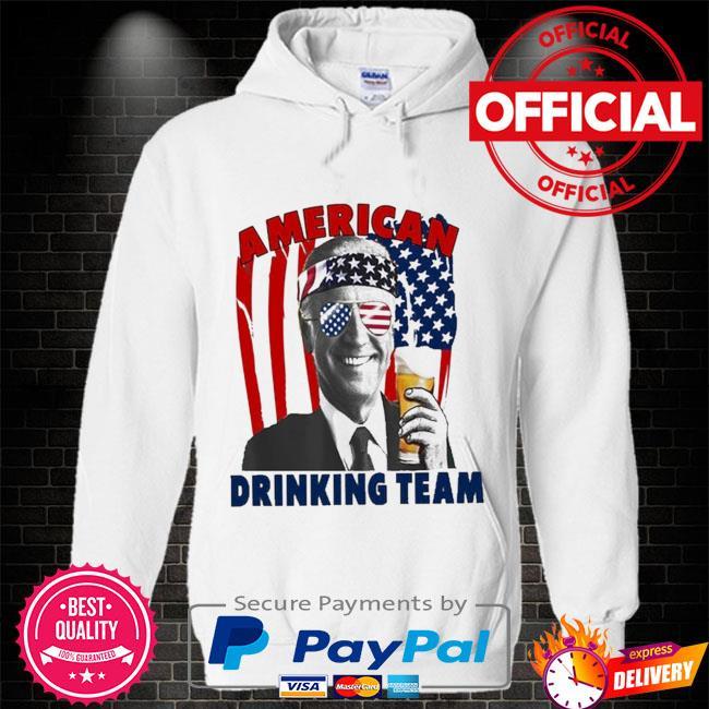 Joe Biden drinking beer shirt 4th of july Hoodie white
