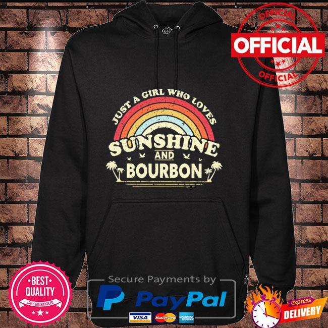 Just a girl who loves sunshine bourdon vintage Hoodie black