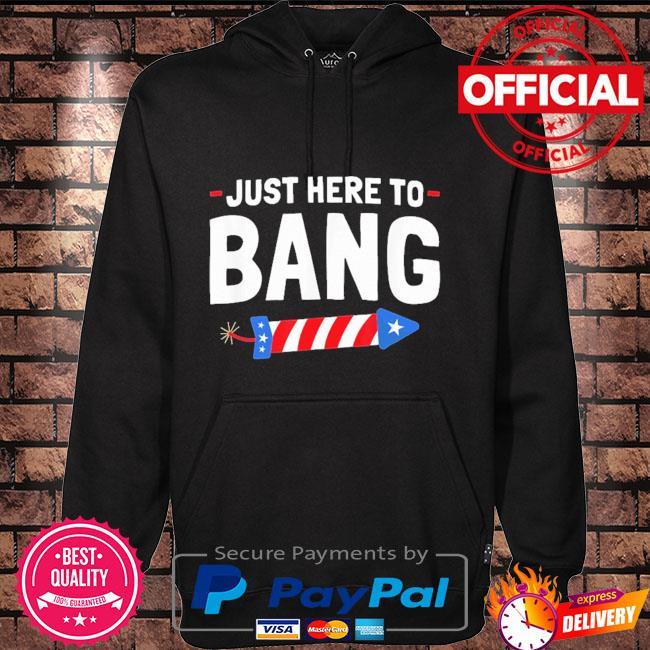 Just here to bang Hoodie black