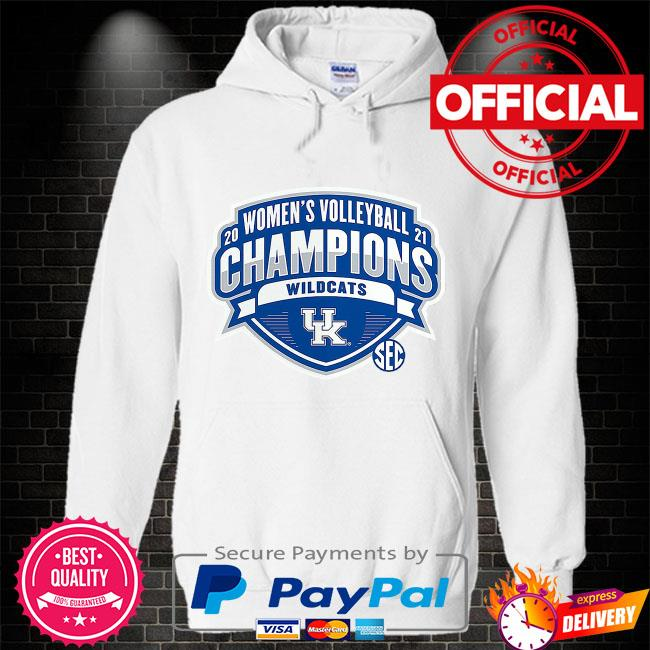 Kentucky Wildcats 2021 SEC Women's Volleyball Season Champions Hoodie white