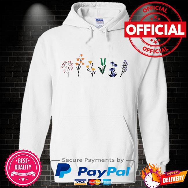 LGBTQ Wildflowers Shirt Hoodie white