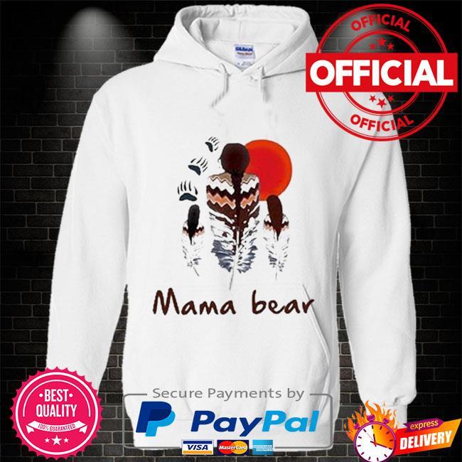 Native mama bear Hoodie white