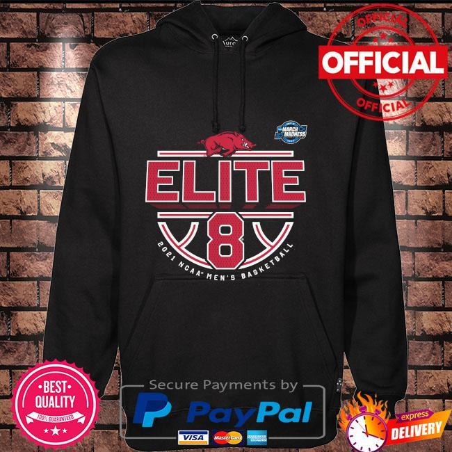Official arKansas razorbacks 2021 ncaa men's basketball tournament march madness elite 8 bound tri-blend Hoodie black