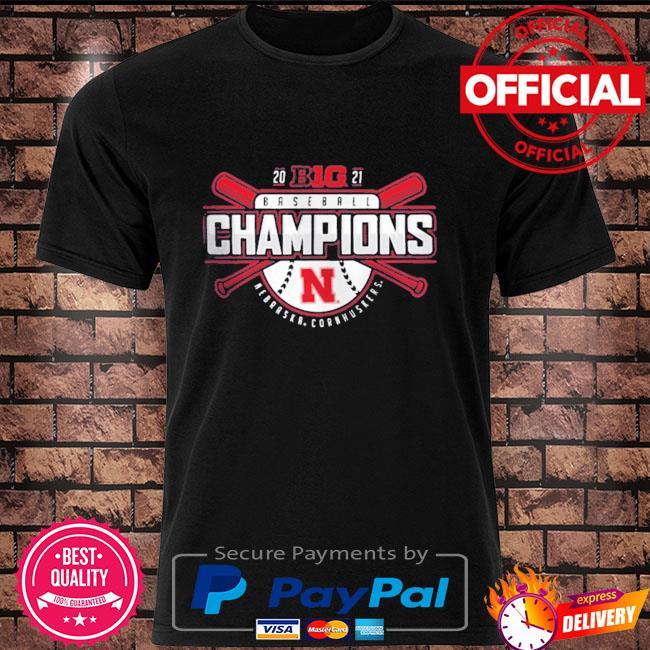 Official Nebraska Huskers 2021 Big Ten Baseball Conference Champions T-Shirt