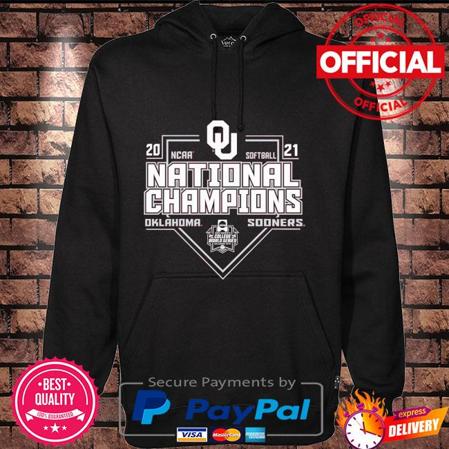 Oklahoma sooners 2021 ncaa softball college world series champions Hoodie black