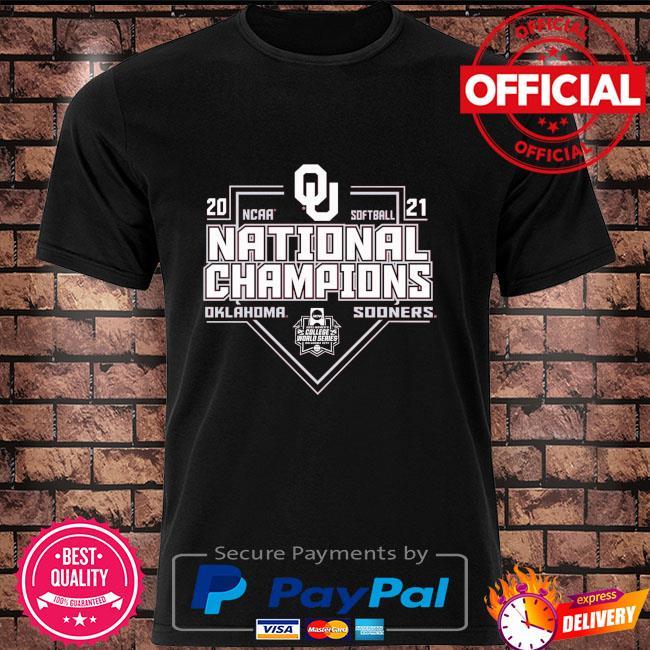Oklahoma sooners 2021 ncaa softball college world series champions shirt