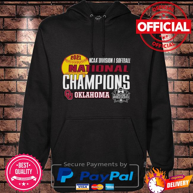 Oklahoma sooners women's 2021 ncaa softball women's college world series champions locker room Hoodie black