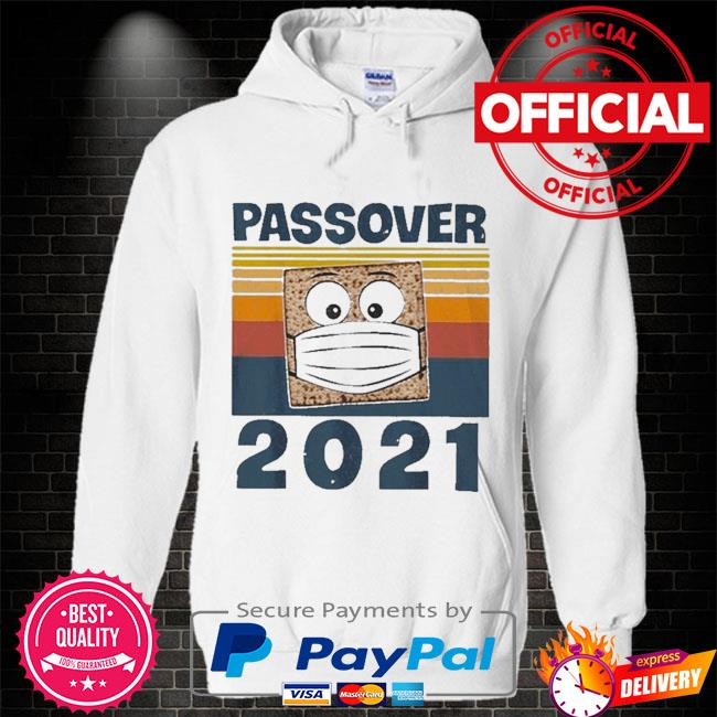 Passover 2021 matzo wear face mask 2021 Hoodie white
