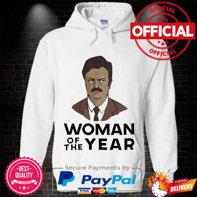 Ron swanson woman of the year Hoodie white