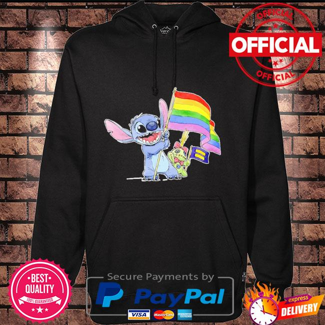 Stitch Support LGBT And Human Rights Love Wins Shirt Hoodie black