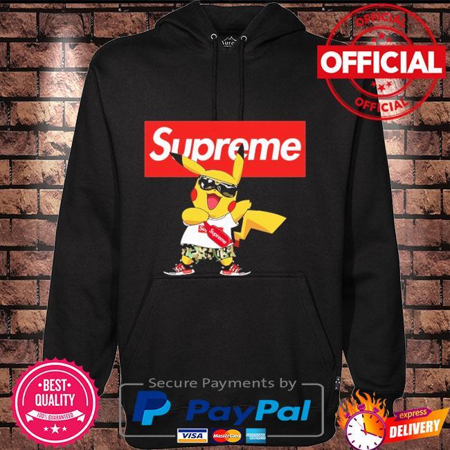 Supreme Pokemon Singing Pikachu Shirts Hoodie black