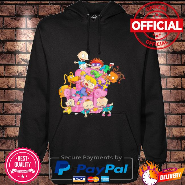 The rugrats group couch Hoodie black