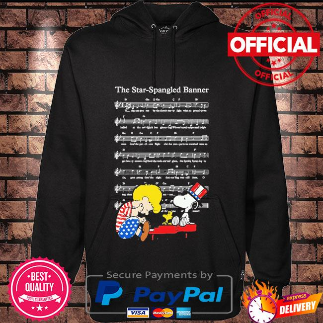 The star-spangled banner snoopy independence day 4th of july Hoodie black
