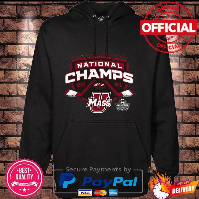 Umass minutemen 2021 ncaa men's ice hockey national champions Hoodie black