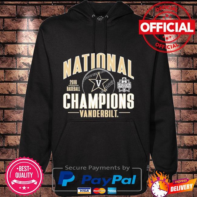 Vanderbilt Commodores 2019 Baseball National Champions Hoodie black