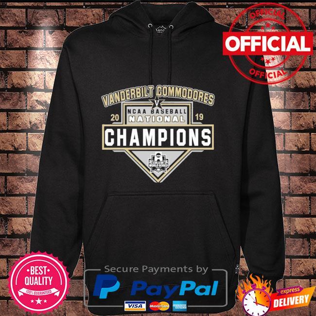 Vanderbilt Commodores 2019 Ncca Baseball champions Hoodie black