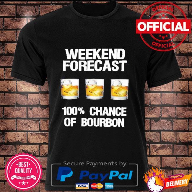 Weekend forecast 100% chance of Bourbon shirt