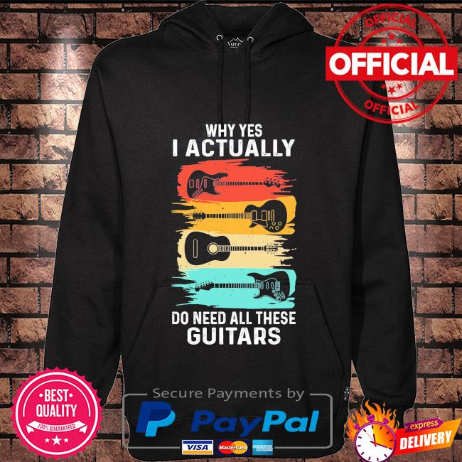 Why yes I actually do need all these Guitars vintage Hoodie black