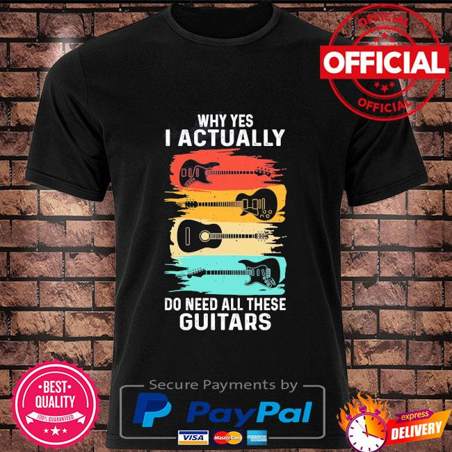 Why yes I actually do need all these Guitars vintage shirt