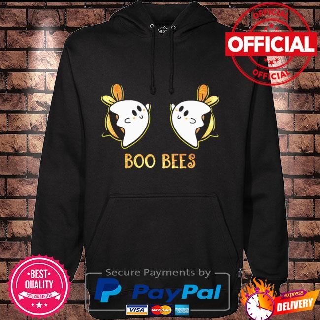 Boo bees halloween light cute Hoodie black