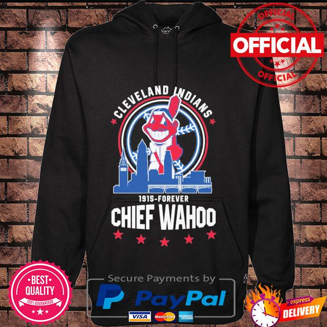 Funny Cleveland Indians 1915-Forever Chief Wahoo Hoodie black