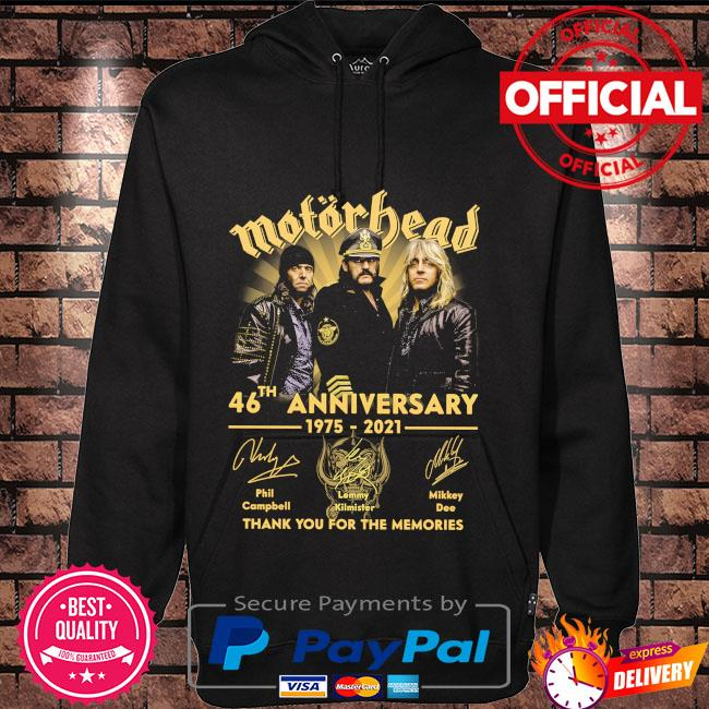Motor Bead 46th anniversary 1975 2021 thank you for the memories signatures Hoodie black
