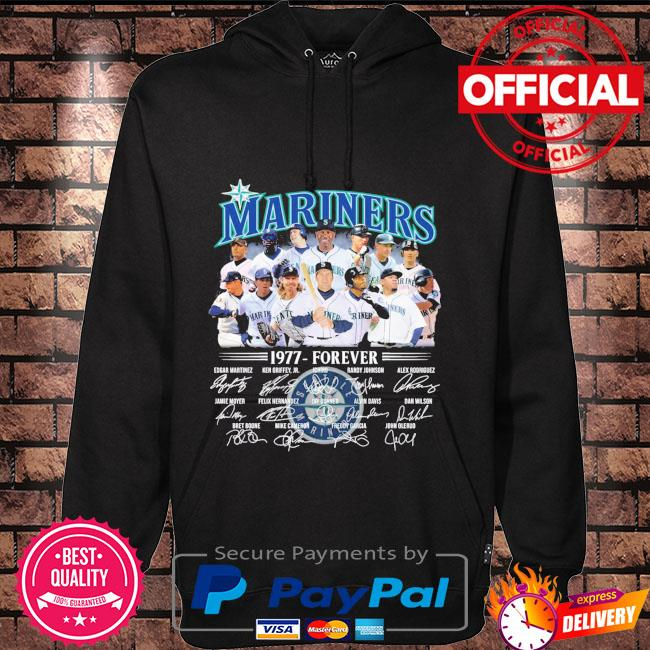 Official Seattle Mariners 1977-forever signatures t-s Hoodie black