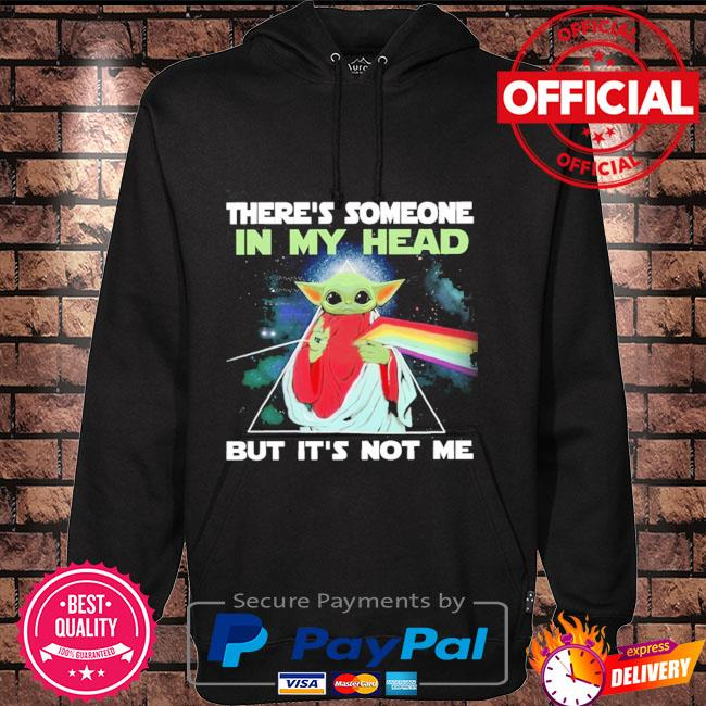 There's Someone In My Head But It's Not Me Baby Yoda Pink Floyd Hoodie black