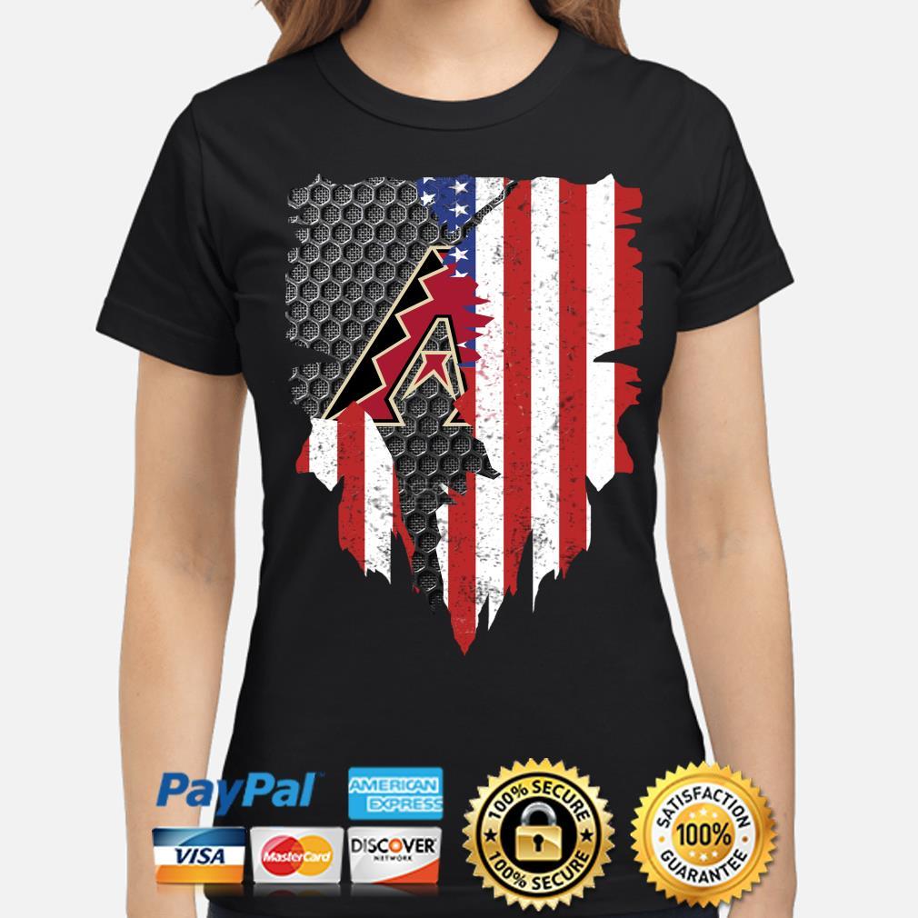 Arizona Diamondbacks Inside American Flag Shirt ladies-shirt