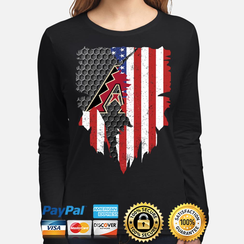 Arizona Diamondbacks Inside American Flag Shirt long-sleeve