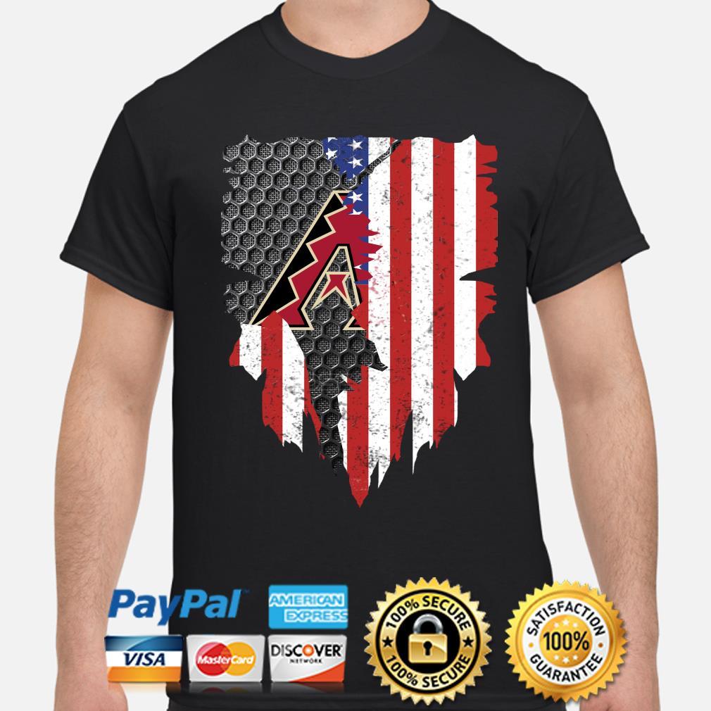 Arizona Diamondbacks Inside American Flag Shirt