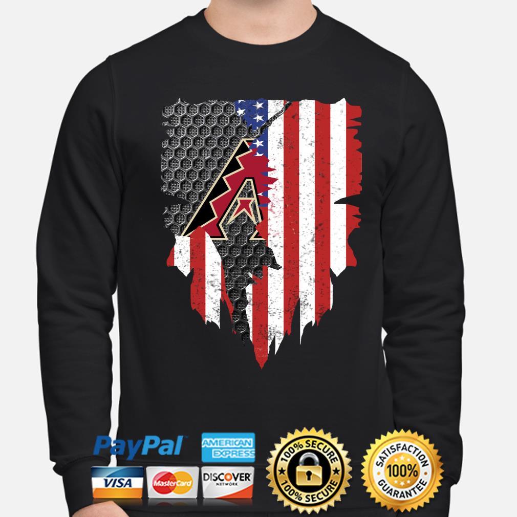 Arizona Diamondbacks Inside American Flag Shirt sweater