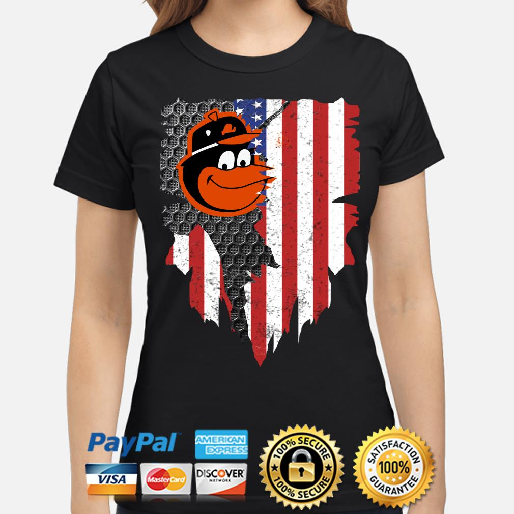 Baltimore Orioles Inside American Flag Shirt ladies-shirt
