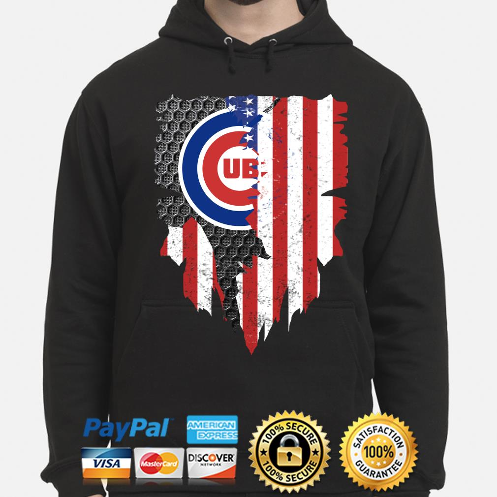 Chicago Cubs Inside American Flag Shirt hoodie