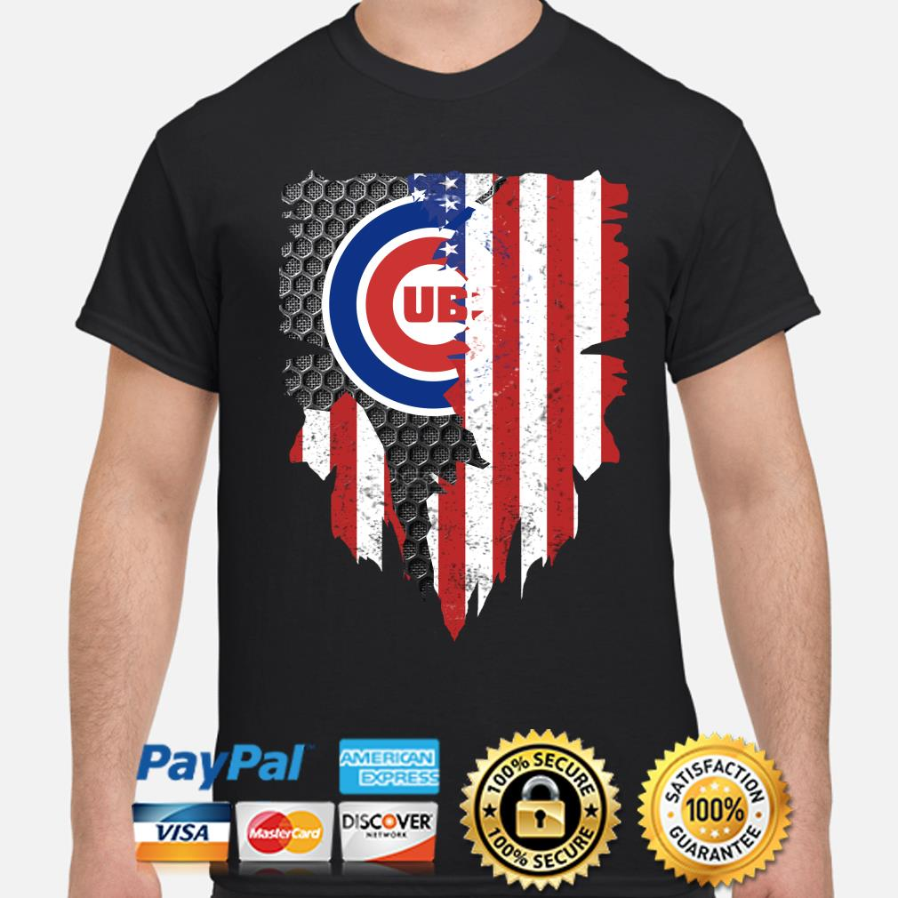 Chicago Cubs Inside American Flag Shirt