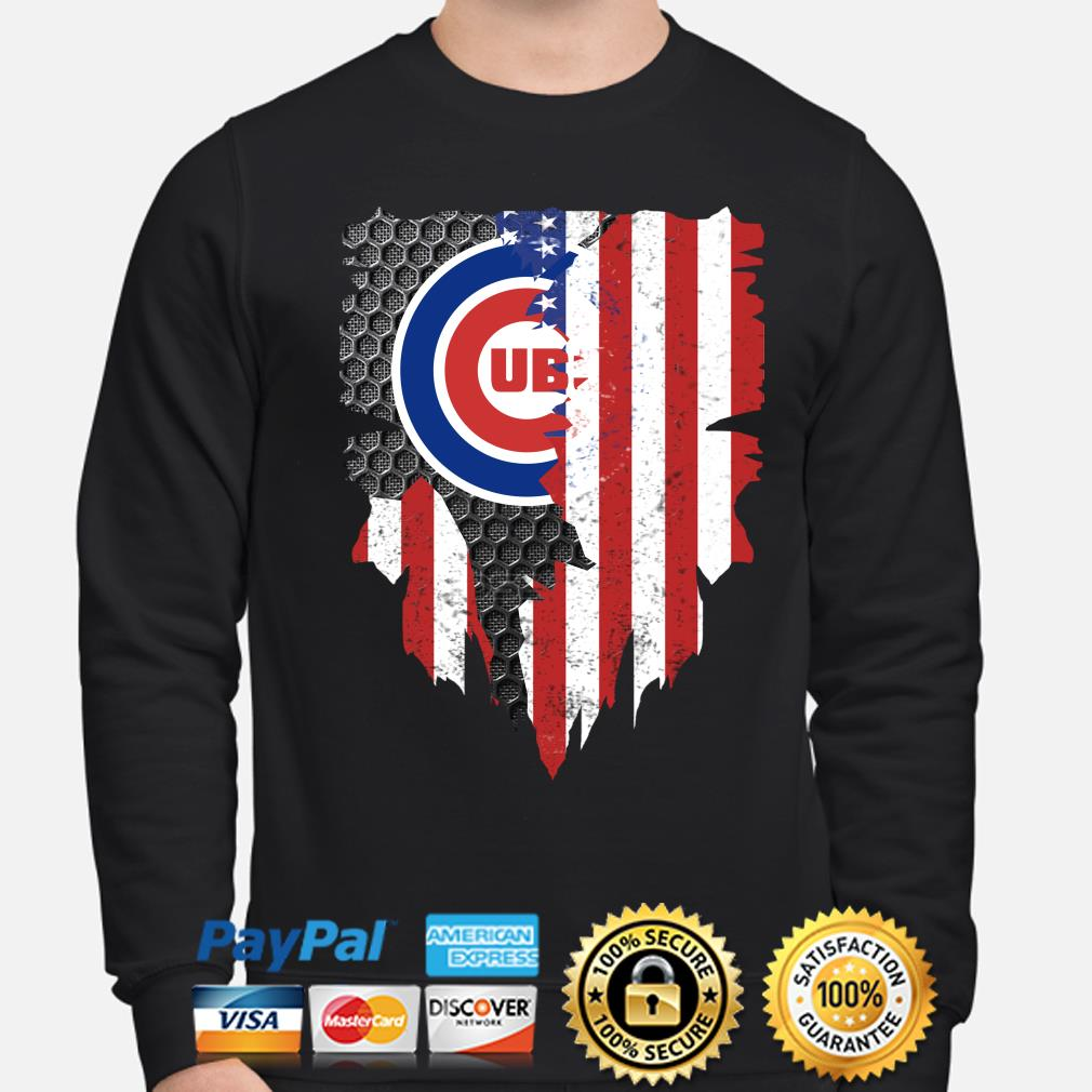 Chicago Cubs Inside American Flag Shirt sweater
