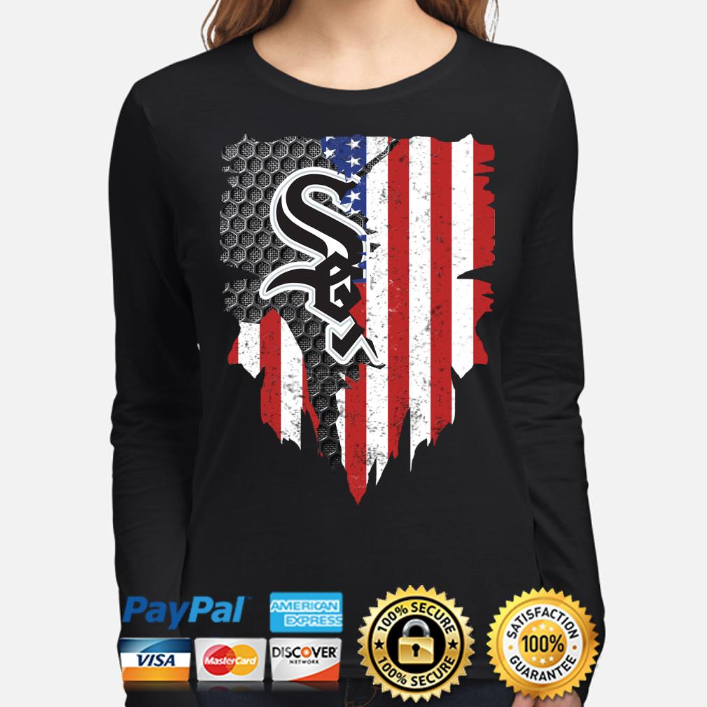 Chicago White Sox Inside American Flag Shirt long-sleeve