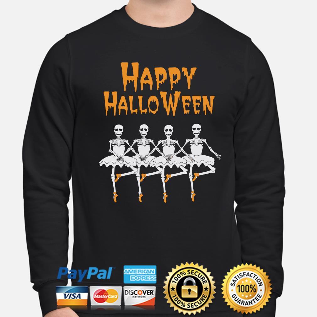 Skeleton Dancing Ballet Halloween Shirt Skeleton Ballerina Sweatshirt