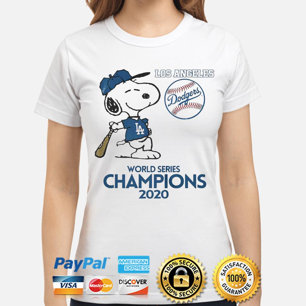 Snoopy Los Angeles Dodgers world Series Champions 2020 s ladies-shirt