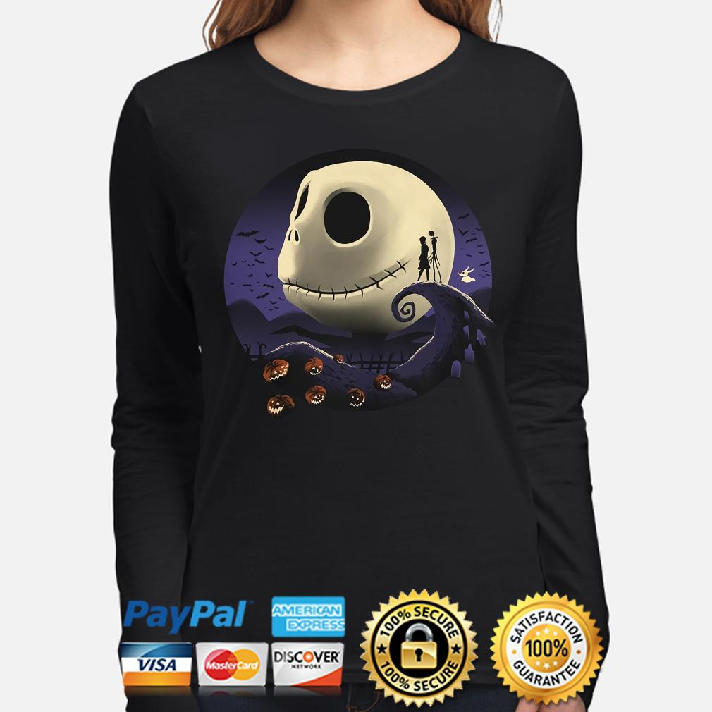 New Official NIGHTMARE BEFORE CHRISTMAS THE MOON OOGIE BOOGIE Girlie T-Shirt