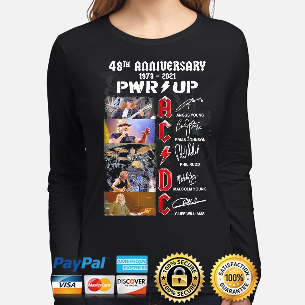 Sweater Hoodie ACDC 48th anniversary Shirt Graphic Novelty T Shirt