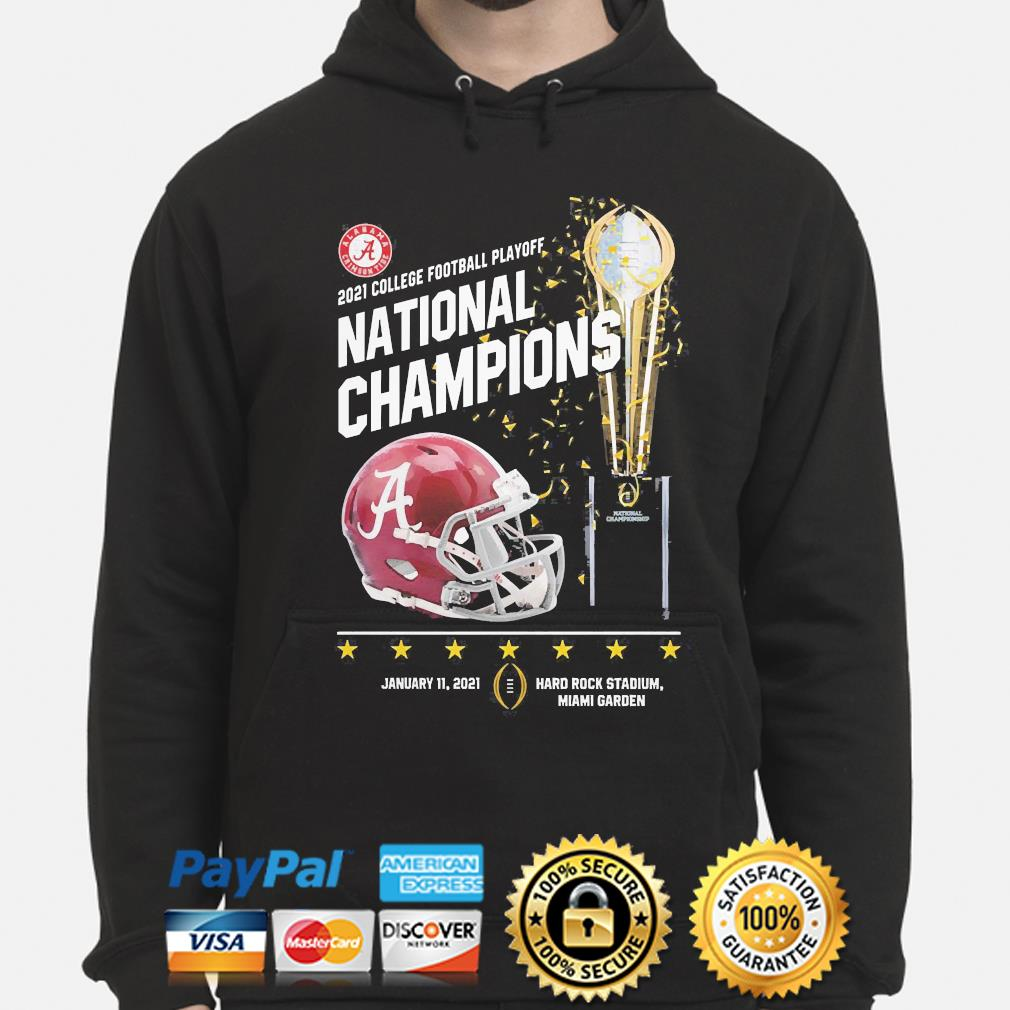 2021 college football playoff national champions Alabama Crimson Tide s hoodie