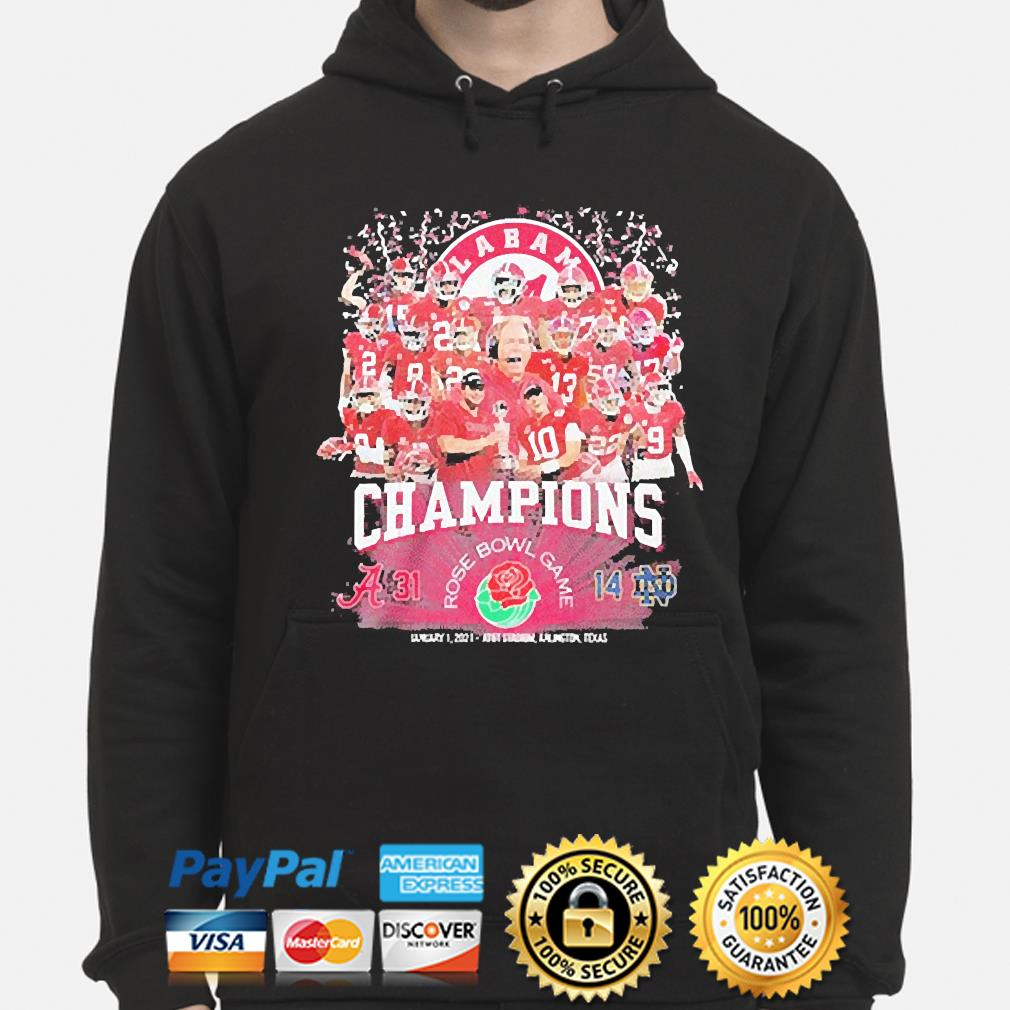 Alabama Crimson Tide champions rose bowl game january 1 2021 s hoodie