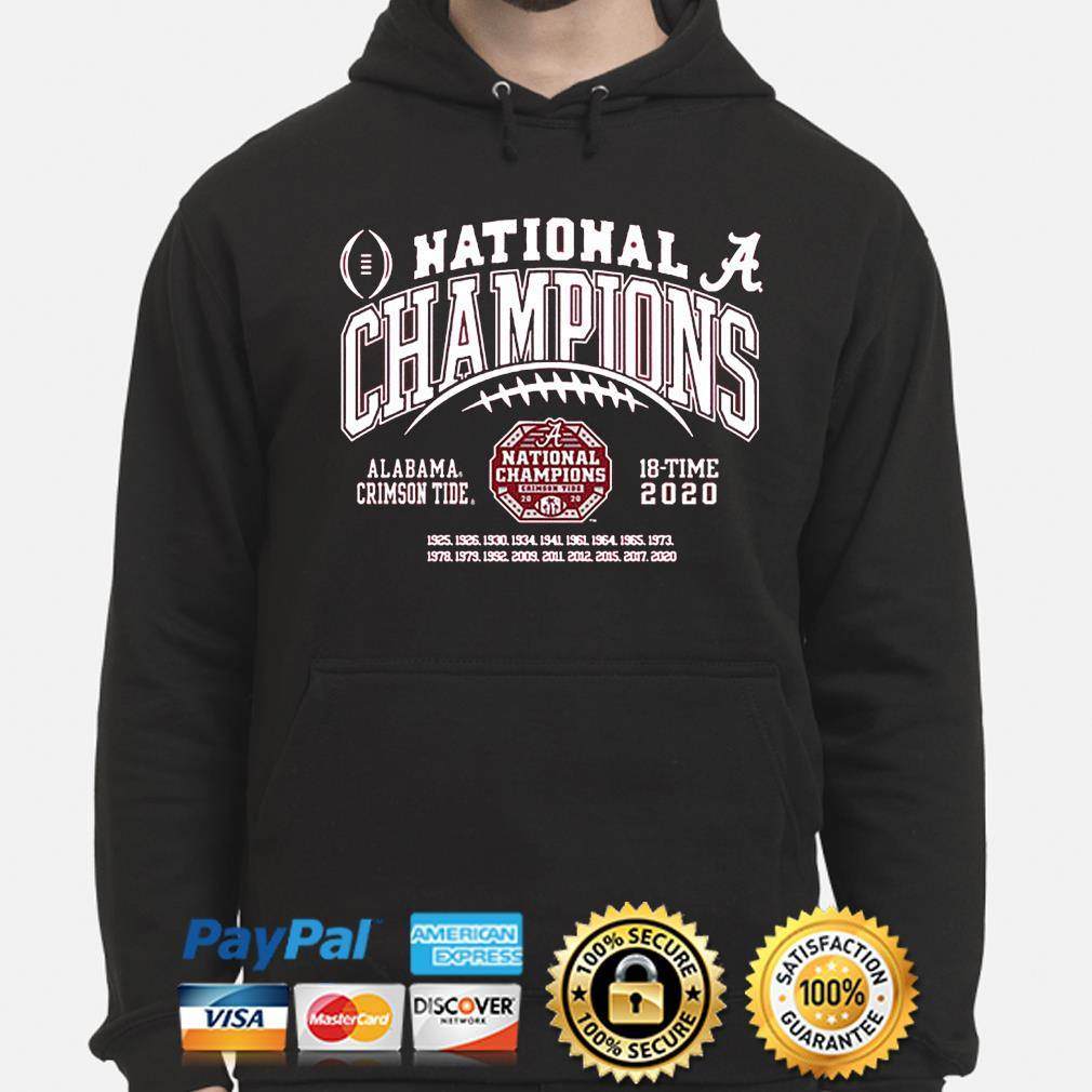 Alabama Crimson Tide national champs 2021-2021 s hoodie
