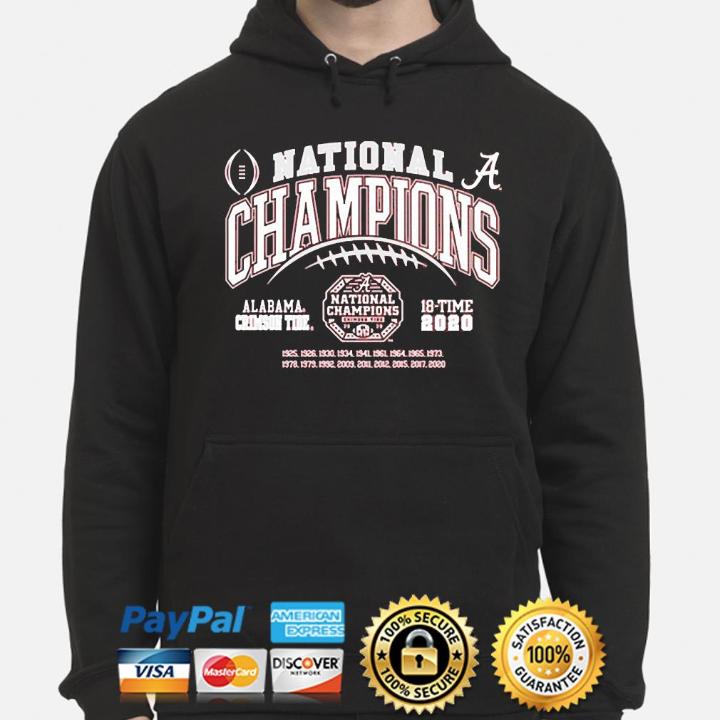 Alabama Crimson Tide national champs 2021-2021 t-s hoodie