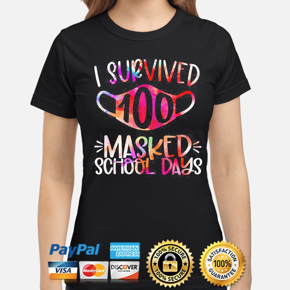 I survived 100 masked school days 2021 shirt